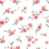 Japanese style cherry blossom pattern,