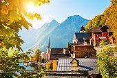 Hallstatt village in Austria.