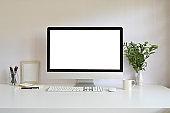 Workspace computer mockup