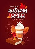 Autumn Fall Season Sale Ad Poster.