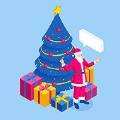 Christmas isometric illustration