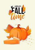 Welcome Autumn Fall season poster.