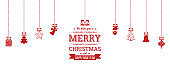 Hanging Christmas Decoration with lovely Christmas Elements