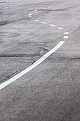 typical road with S shape line