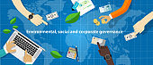 ESG concept of environmental, social and governance in sustainable and ethical business