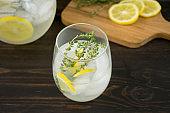 Lemon Thyme Gin Spritz Cocktail