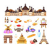 Concept of travel, trip to Paris, the sights of France.