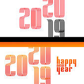 2020 happy new year text in modern style for print card, poster design - happy holidays
