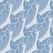 Abstact simple style leaves wallpaper. Hand draw seamless pattern.