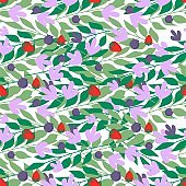 Herbal leaves seamless pattern , Fashion, interior, wrapping consept.