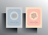 Set of thank you cards.