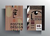 Design template cover, poster, brochure set.