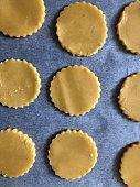 Preparing Linzer cookies