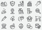 Skin Care Line Icons