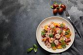 Peruvian shrimp, prawn Ceviche