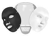 Mask Sheet. 3d Coton Facial Mask with Sachet.
