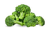 Broccoli isolated on white with clipping path