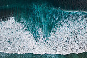 Ocean surf from above