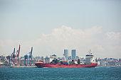 Cargo ship in the Bosphorus