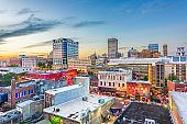 Memphis, Tennesse, USA downtown cityscape at dusk