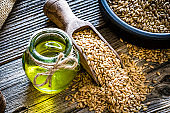 Healthy eating: Flax seed oil and flax seeds