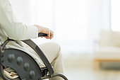 Senior lady in a wheelchair