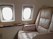 Empty seat in a private jet.
