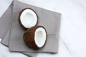 coconut on a marble background