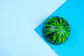 anti stres squishy toy watermelon on a blue background