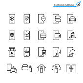 Editable stroke line icons