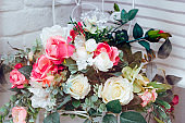 wedding decoration bouquet of artificial flowers