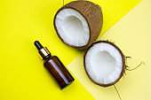 coconut and oil bottle