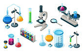 Medical equipment + First Aid Kit + laboratory glassware