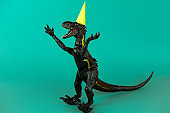 dinosaur in a party hat