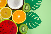 fruits on a vibrant background