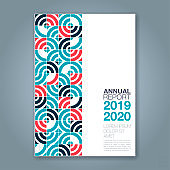Abstract minimal geometric background for business annual report book cover brochure flyer poster
