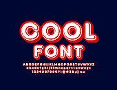 Vector Cool Font. Trendy retro Font