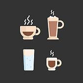Turkish coffee set. Coffee Coffee pot and coffee cup.