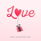 Valentines day love background, poster template.