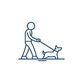 Pet care line icon concept. Pet care flat  vector symbol, sign, outline illustration.