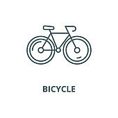 Bicycle vector line icon, linear concept, outline sign, symbol