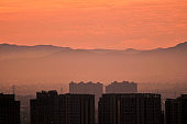 City skyline in sunrise,Chengdu,China