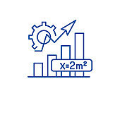 Mathematics formula line icon concept. Mathematics formula flat  vector symbol, sign, outline illustration.