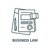 Business law vector line icon, linear concept, outline sign, symbol