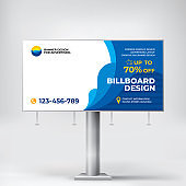 Billboard design, cool banner for outdoor advertising, posting photos and text. Creative graphic background for product promotionanner for outdoor advertising