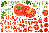 Tomato Collection Abstract
