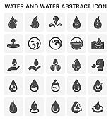 water abstract icon