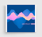 Album cover design template. Abstract background with color gradient. Applicable for placards, flyers, banners, brochures, planners or notebooks. Vector illustration.