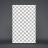 Photo frame mockup. Chess board background. Blank space for your design. Vector illustration.