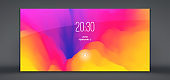 Modern lock screen for mobile apps. Abstract background with trendy gradients. Can be used for advertising, marketing, presentation. Vector illustration.